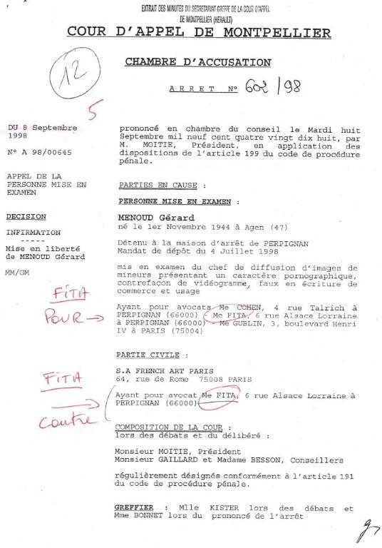 Gerard menoud chambre d accusation for Chambre d accusation